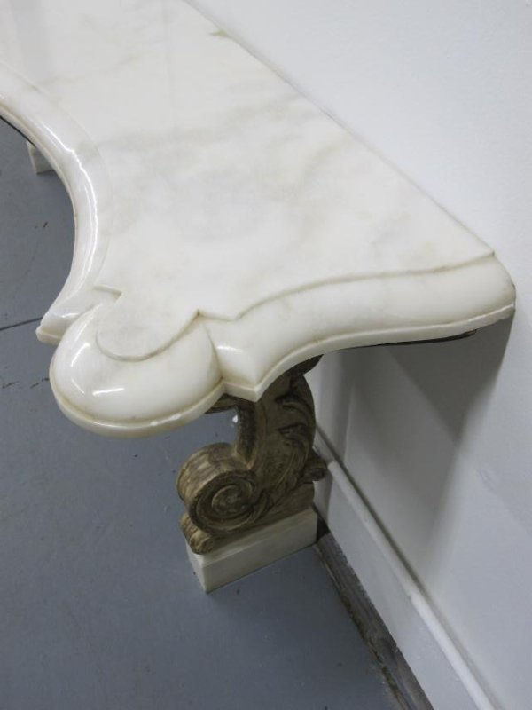 ITALIAN MARBLE TOP CONSOLE - 5