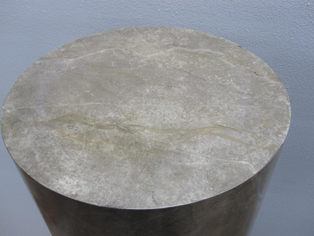 PAIR OF FAUX MARBLE PEDESTALS - 2