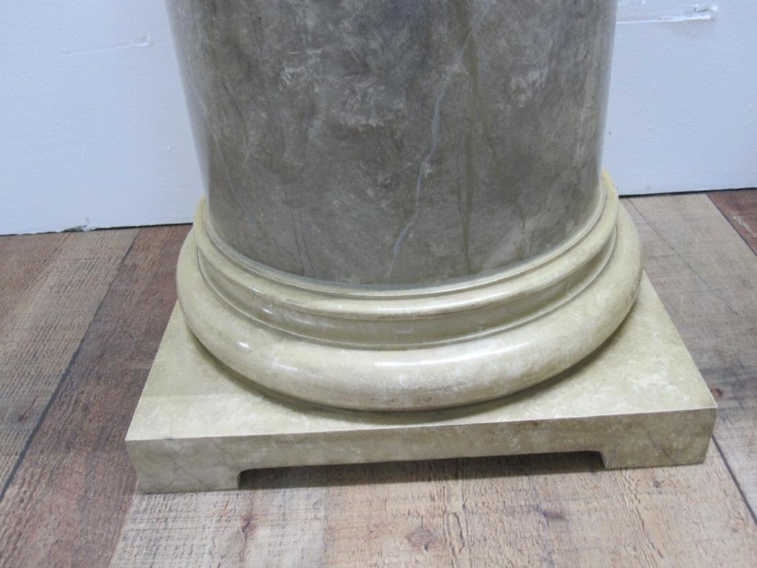 PAIR OF FAUX MARBLE PEDESTALS - 3