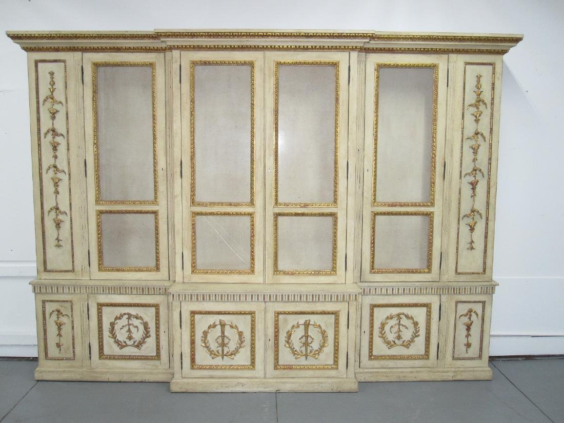 NEOCLASSICAL STYLE BREAKFRONT CABINET