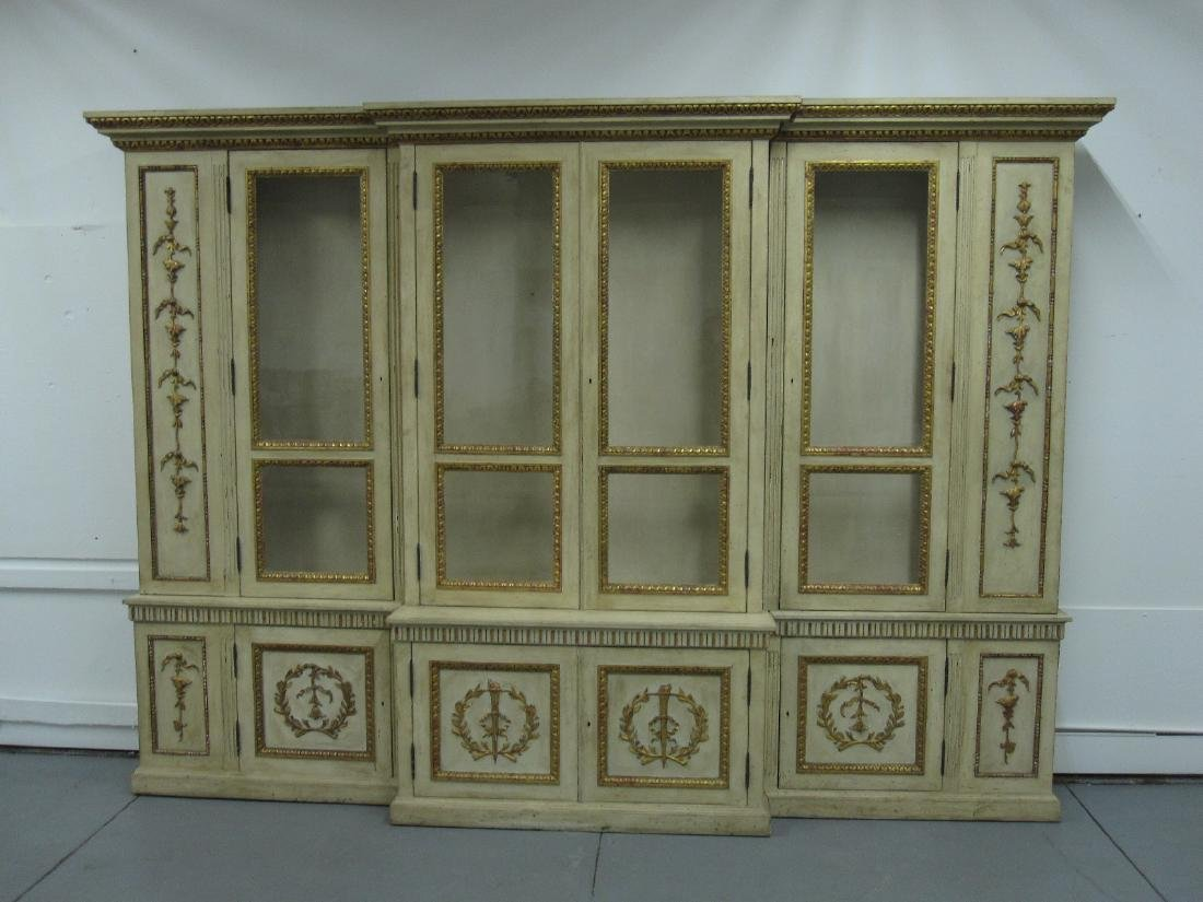 NEOCLASSICAL STYLE BREAKFRONT CABINET - 2