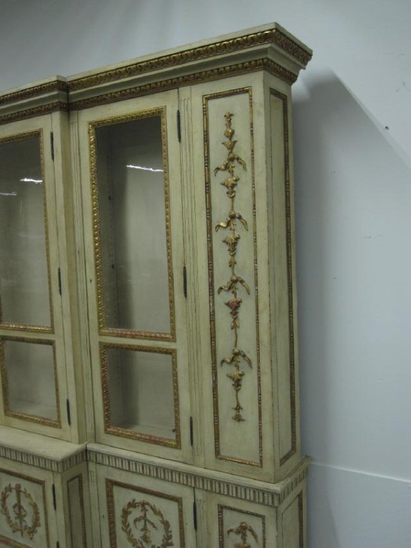 NEOCLASSICAL STYLE BREAKFRONT CABINET - 6