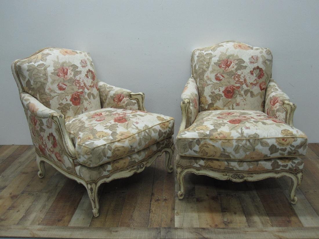 PAIR OF FRENCH COUNTRY ARMCHAIRS