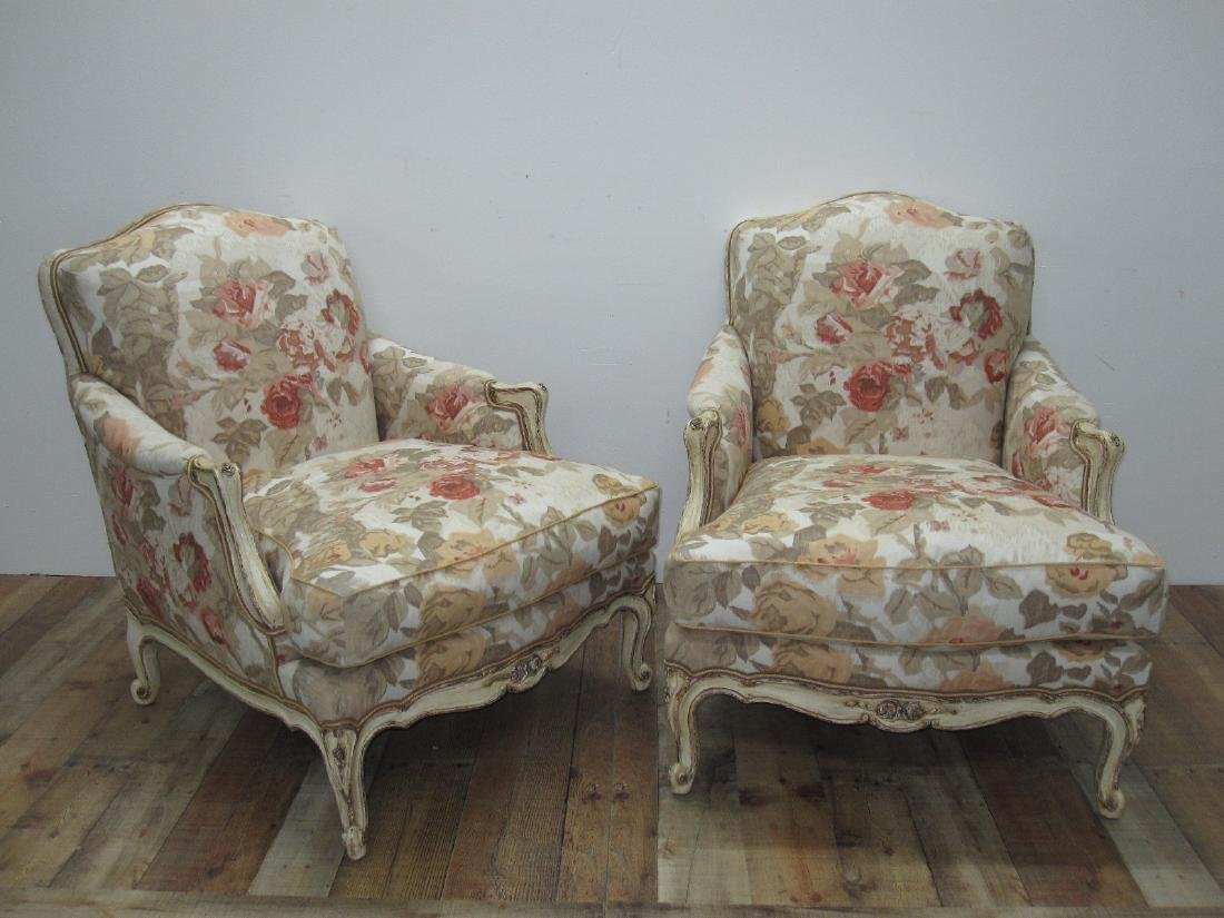 PAIR OF FRENCH COUNTRY ARMCHAIRS - 2