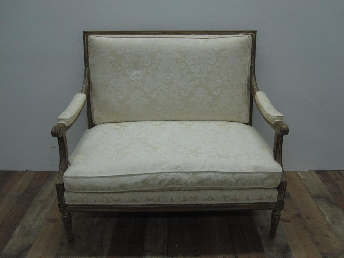 LOUIS XVI STYLE UPHOLSTERED SETTEE