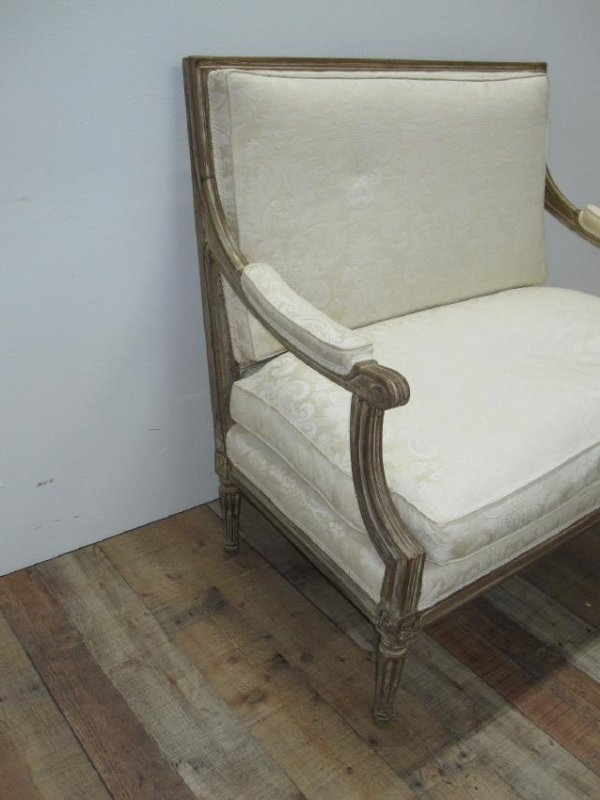 LOUIS XVI STYLE UPHOLSTERED SETTEE - 4
