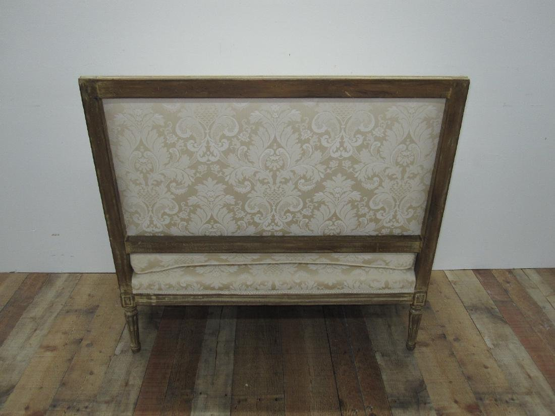 LOUIS XVI STYLE UPHOLSTERED SETTEE - 5