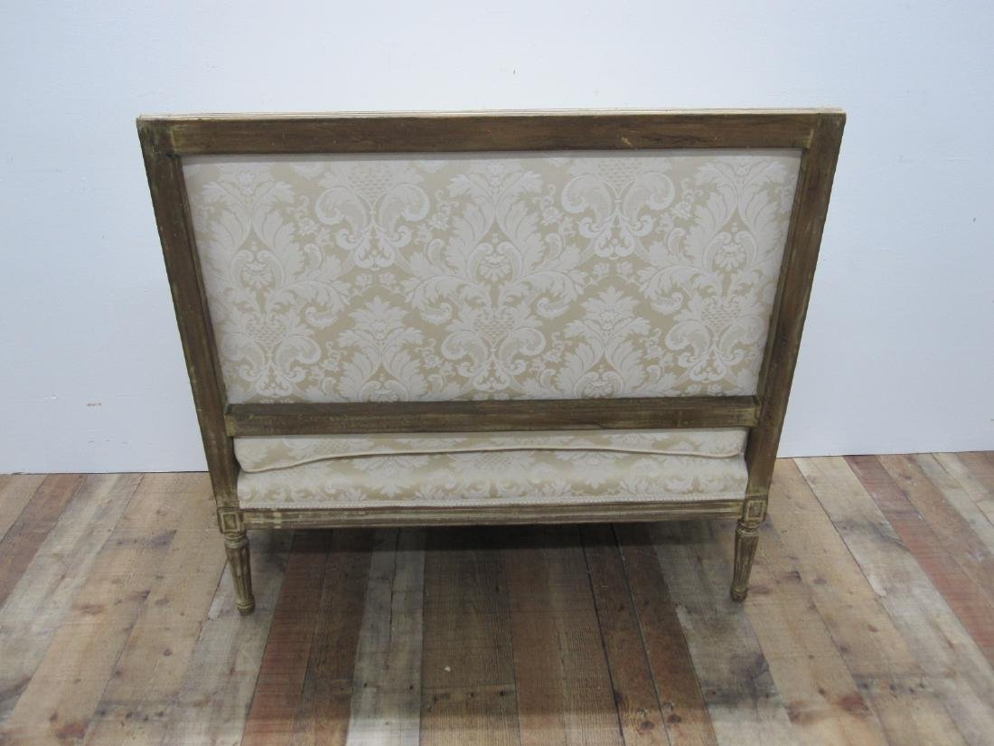 LOUIS XVI STYLE UPHOLSTERED SETTEE - 6