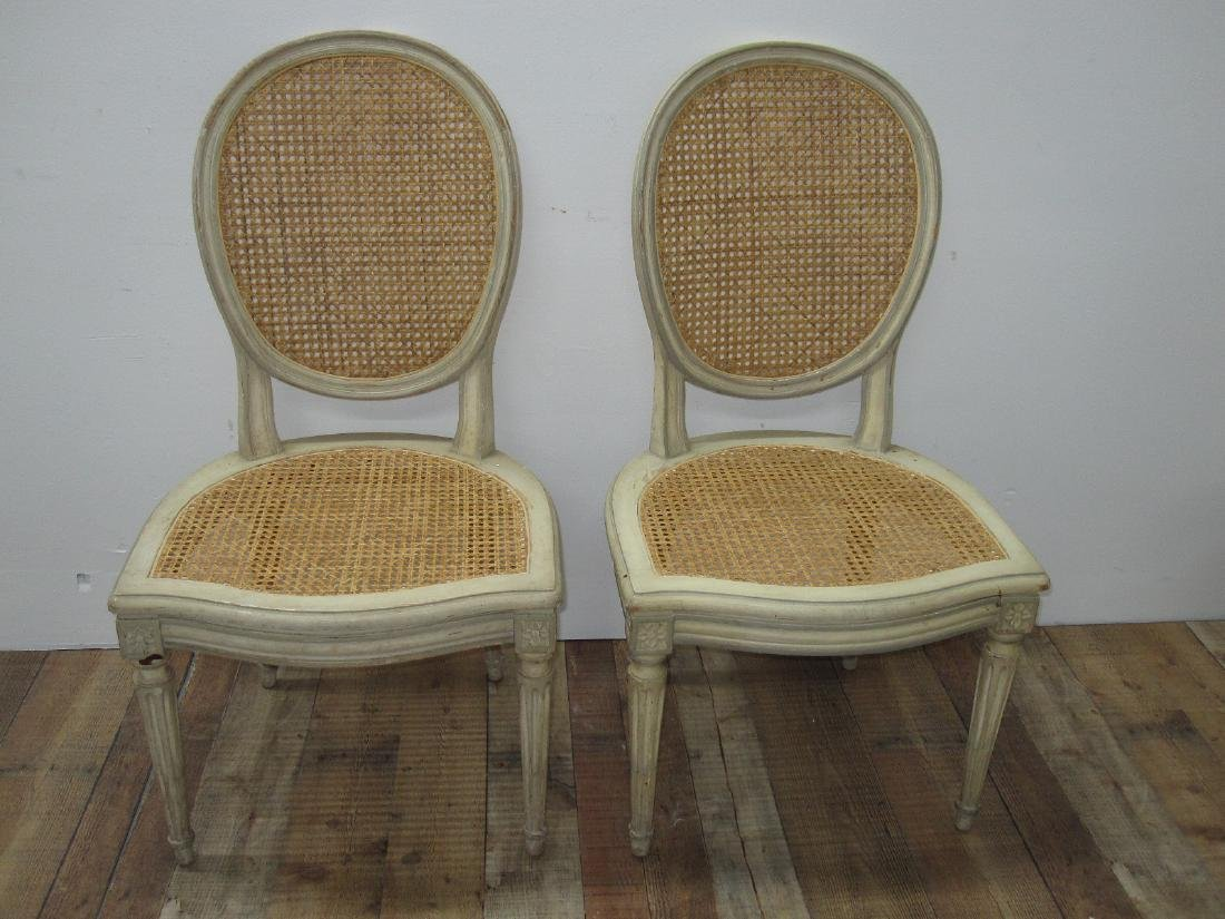 SET OF SIX LOUIS XVI STYLE SIDE CHAIRS - 2