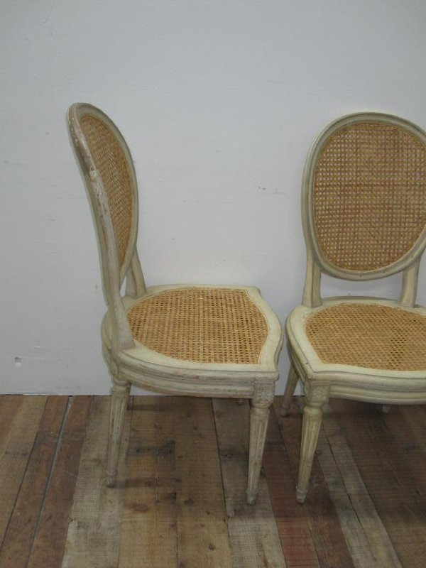 SET OF SIX LOUIS XVI STYLE SIDE CHAIRS - 3