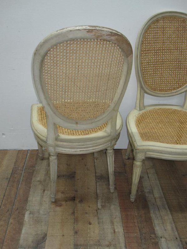 SET OF SIX LOUIS XVI STYLE SIDE CHAIRS - 4