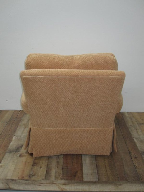 PAIR OF UPHOLSTERED EASY CHAIRS - 3