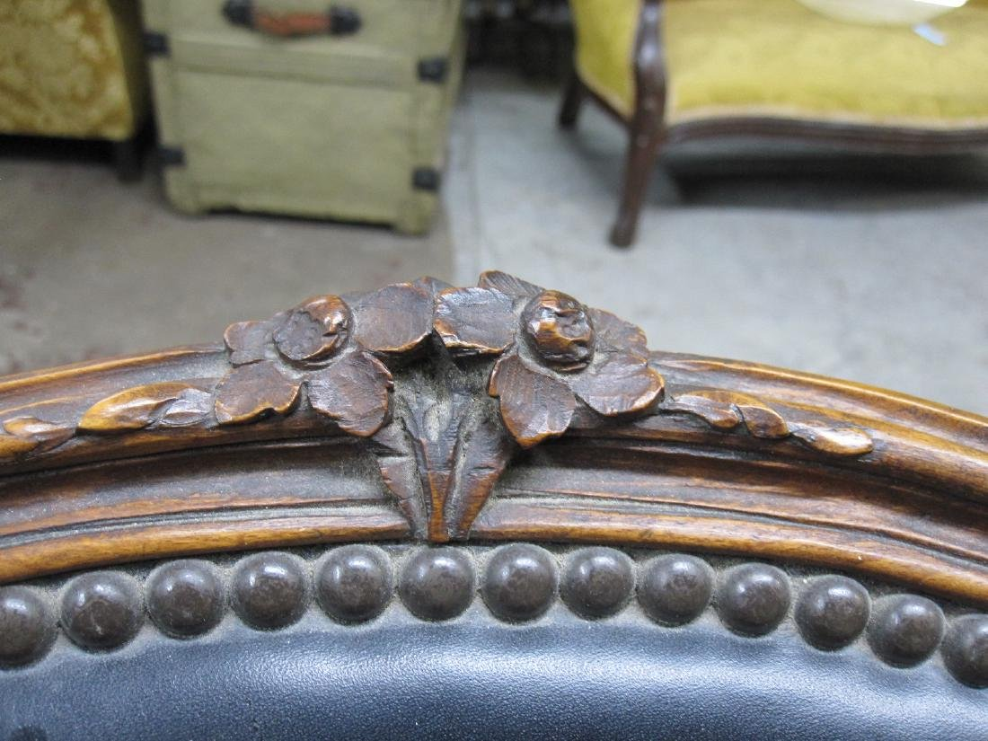 PAIR OF LOUIS XV STYLE ARMCHAIRS - 5