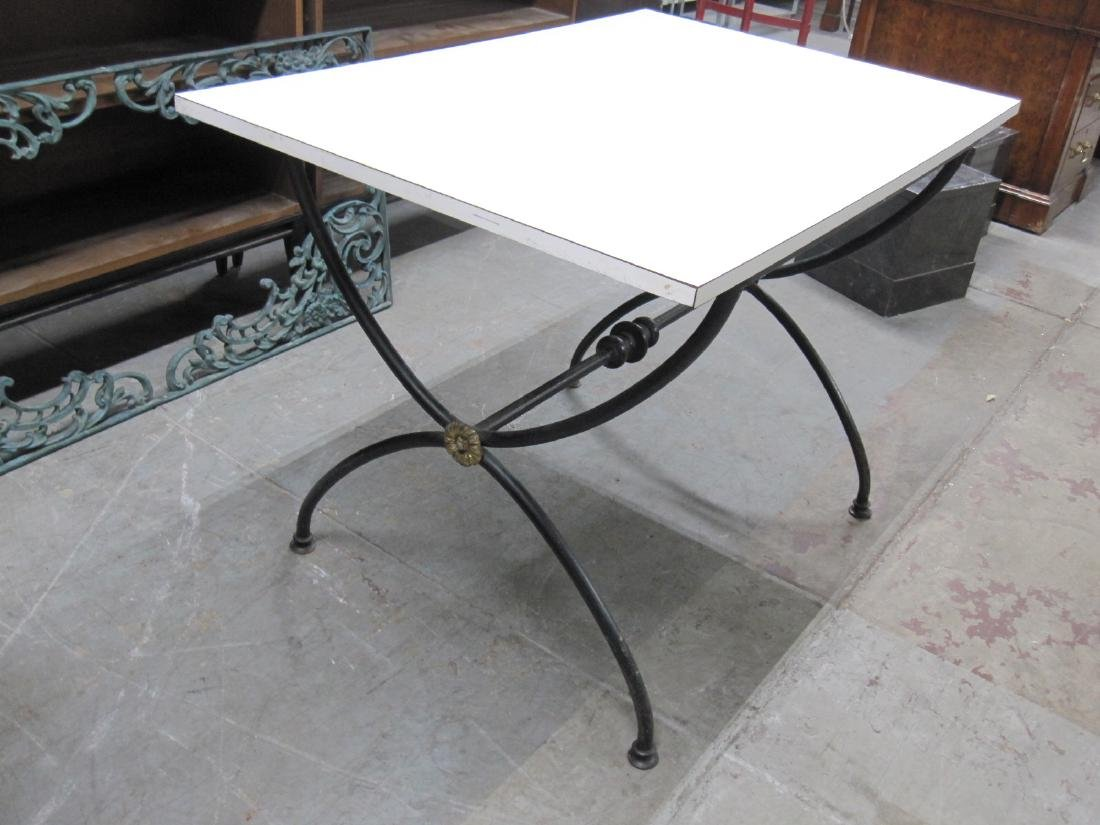WHITE FORMICA TOP CENTER TABLE - 2