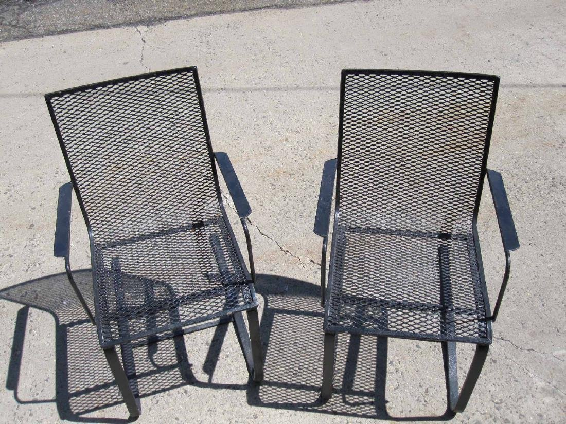 PAIR OF BLACK SPRING PORCH CHAIRS