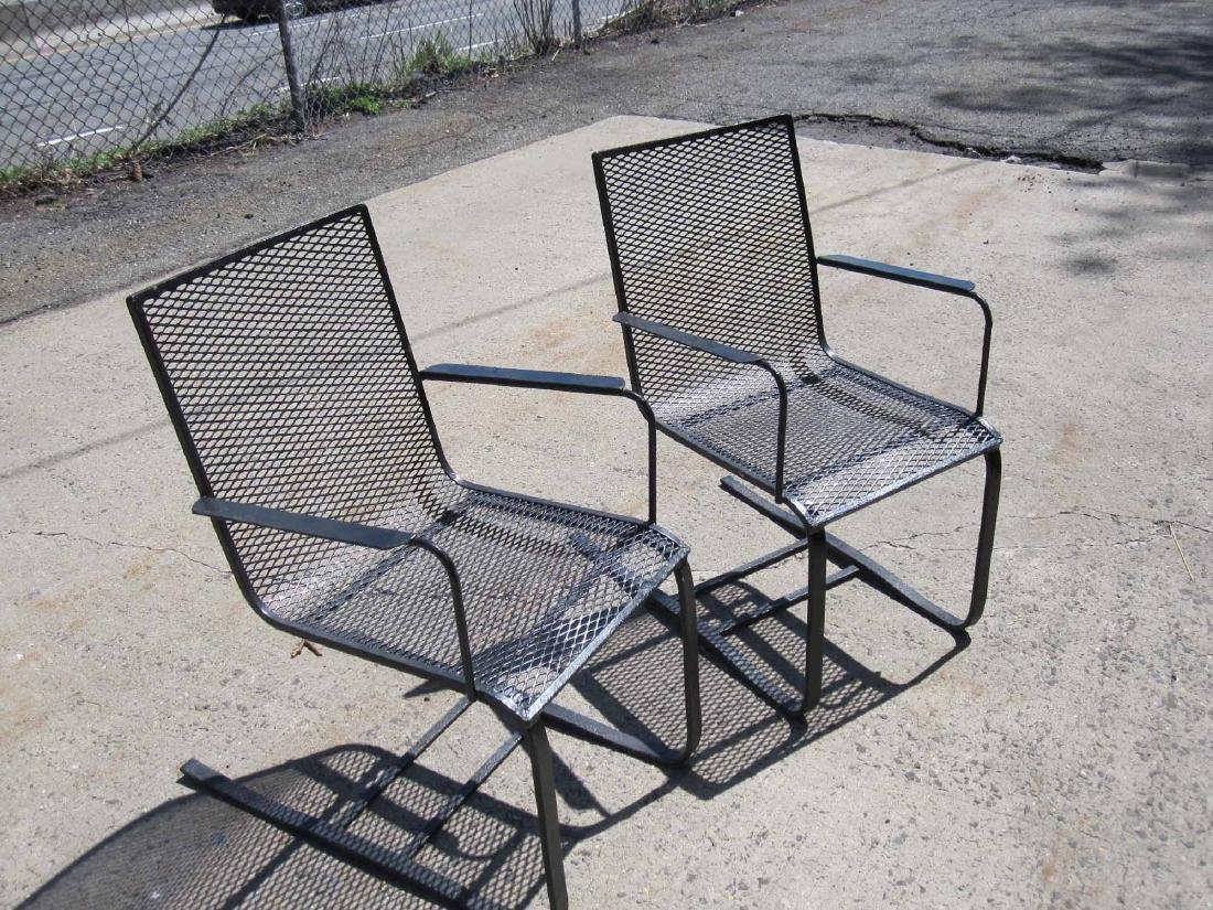 PAIR OF BLACK SPRING PORCH CHAIRS - 2