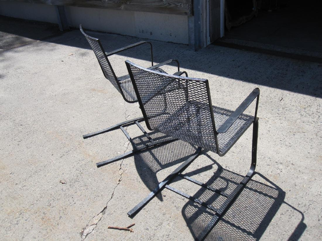 PAIR OF BLACK SPRING PORCH CHAIRS - 3