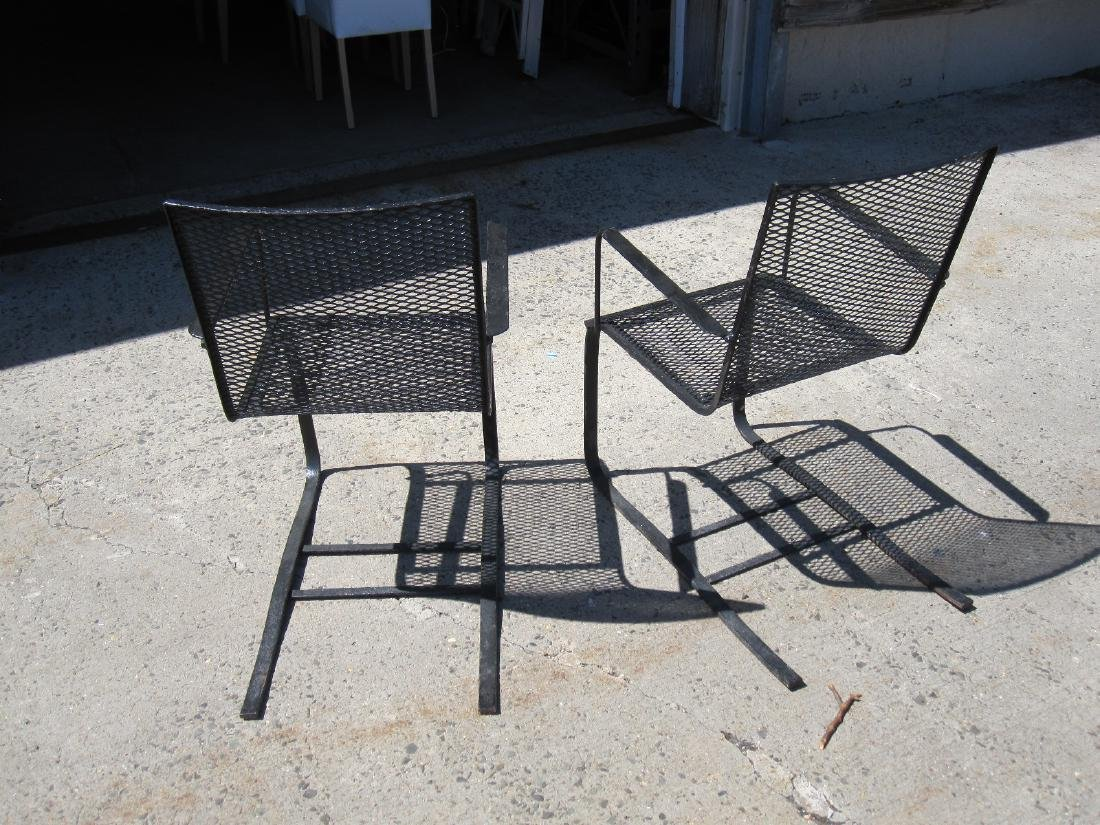 PAIR OF BLACK SPRING PORCH CHAIRS - 4