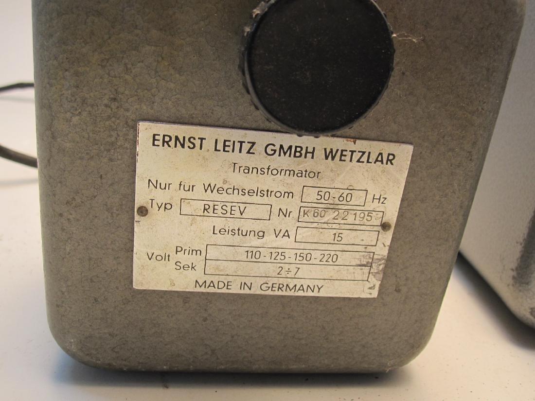 2 LEITZ WETZLAR TRANSFORMERS - 2