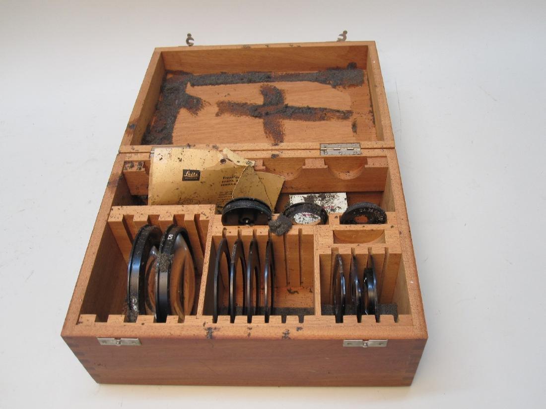 LIETZ WETZLAR BOX OF MICROSCOPE LENSES - 2