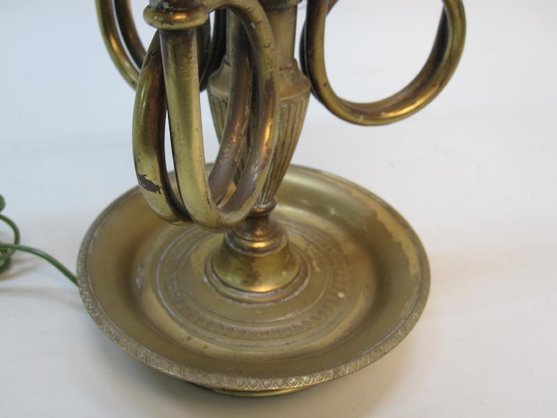 BRASS 3 LIGHT BOUILLOTTE TABLE LAMP - 3