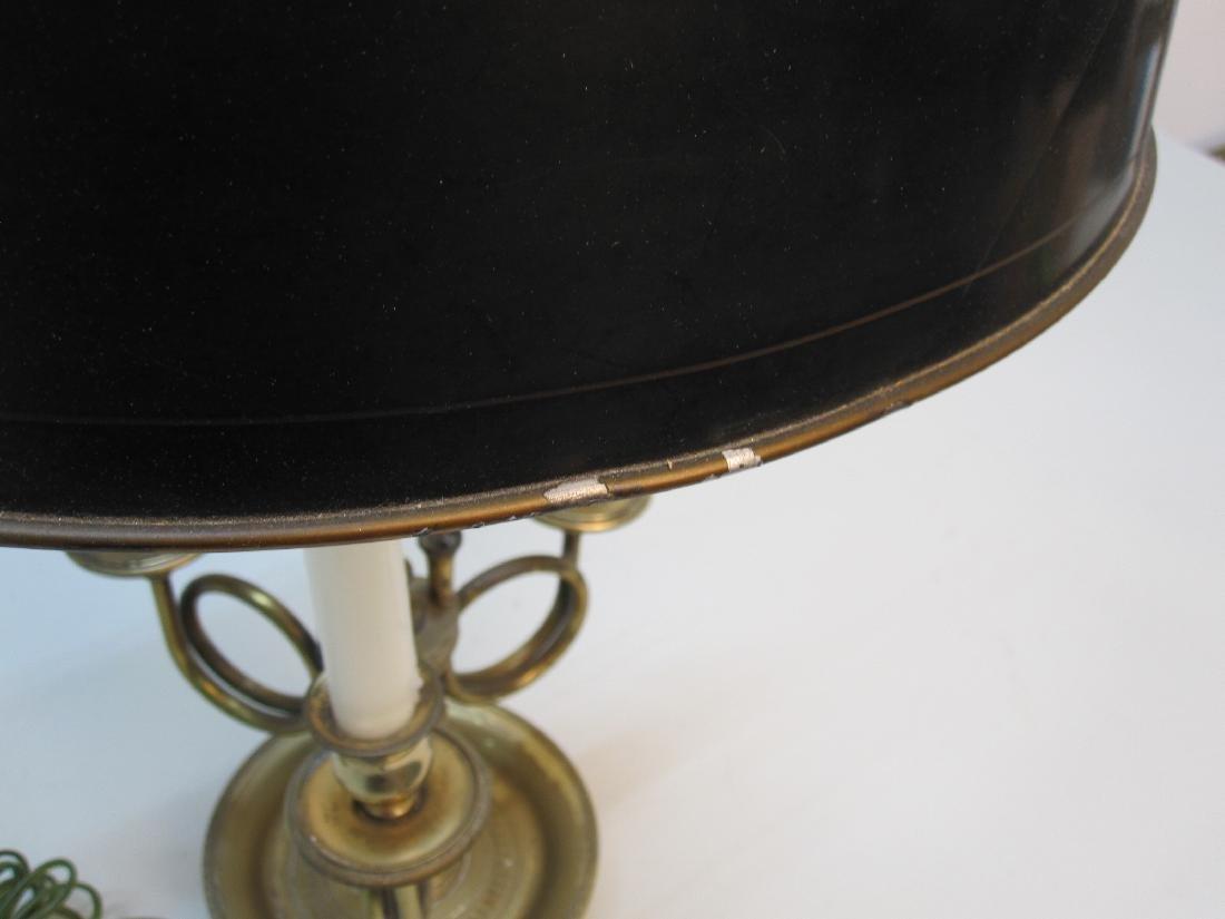 BRASS 3 LIGHT BOUILLOTTE TABLE LAMP - 5
