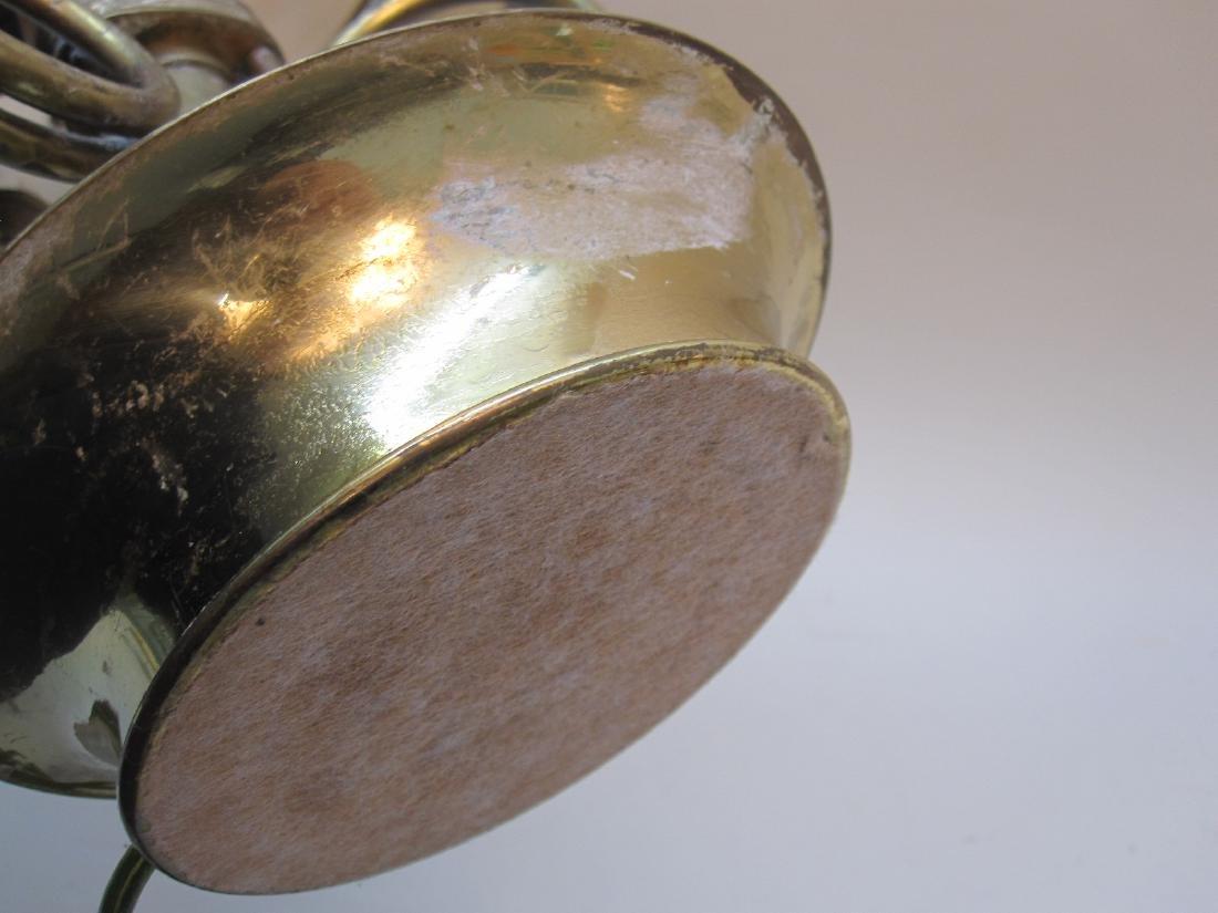 BRASS 3 LIGHT BOUILLOTTE TABLE LAMP - 6