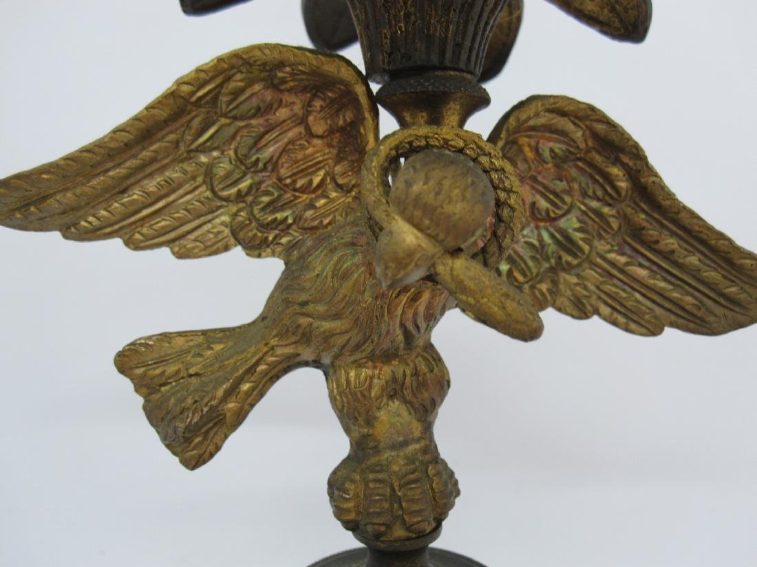 PAIR OF BRASS EAGLE FORM CANDLESTICKS - 2