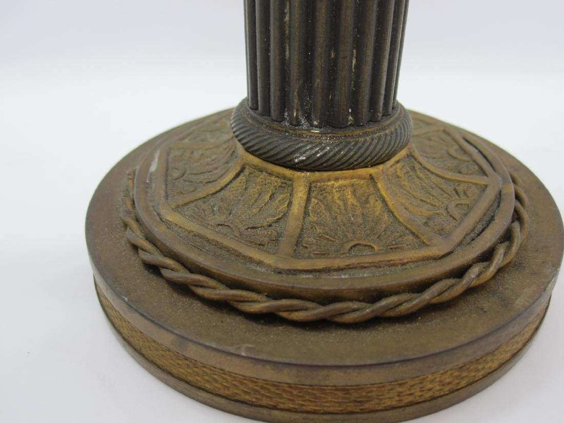 PAIR OF BRASS EAGLE FORM CANDLESTICKS - 3