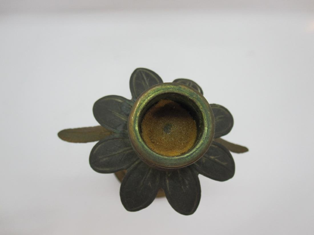PAIR OF BRASS EAGLE FORM CANDLESTICKS - 4