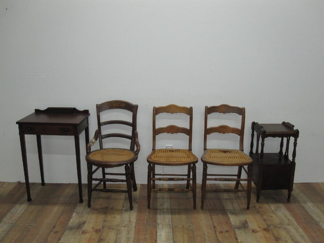THREE ASSORTED COUNTRY SIDE CHAIRS - 2