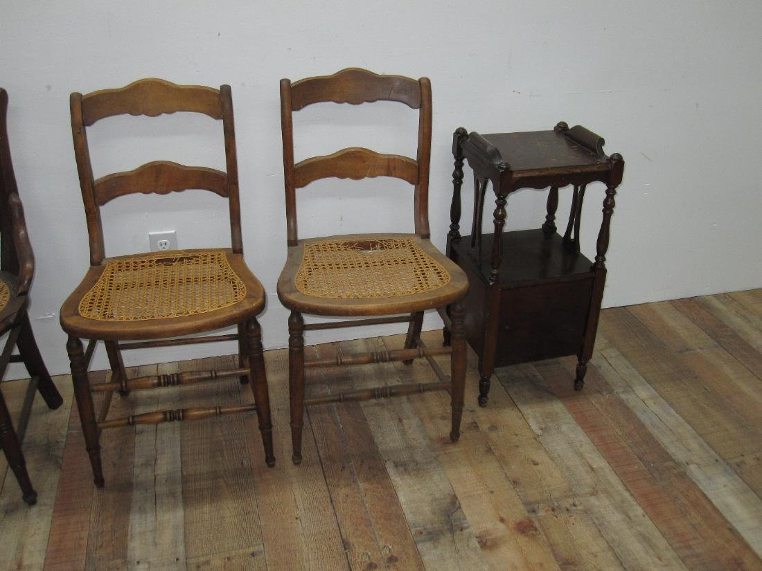 THREE ASSORTED COUNTRY SIDE CHAIRS - 4