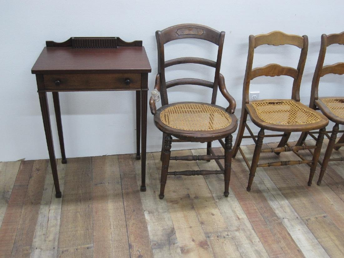 THREE ASSORTED COUNTRY SIDE CHAIRS - 6
