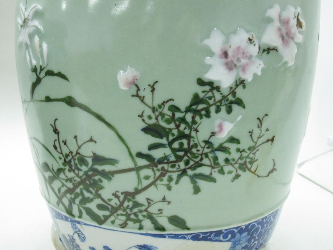 TWO ORIENTAL STYLE CACHE POTS - 2