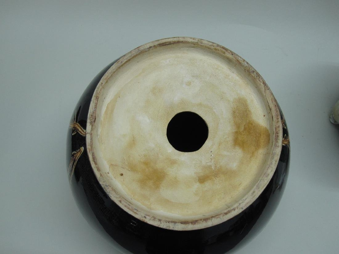 TWO ORIENTAL STYLE CACHE POTS - 7