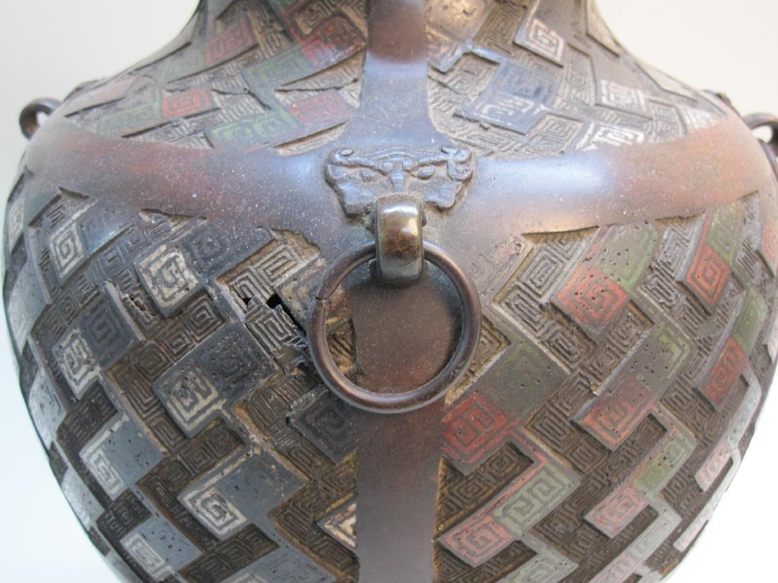 BRONZE ORIENTAL STYLE LAMP - 2