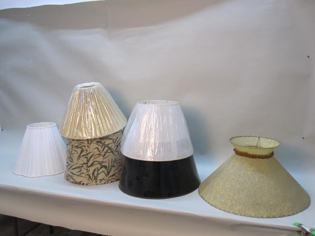 GROUP OF 6  ASSORTED LAMP SHADES