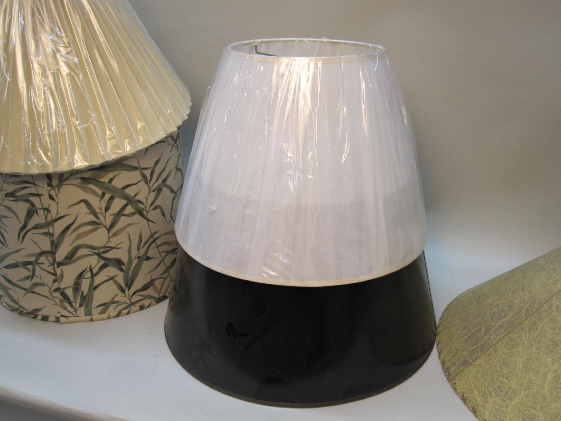 GROUP OF 6  ASSORTED LAMP SHADES - 3