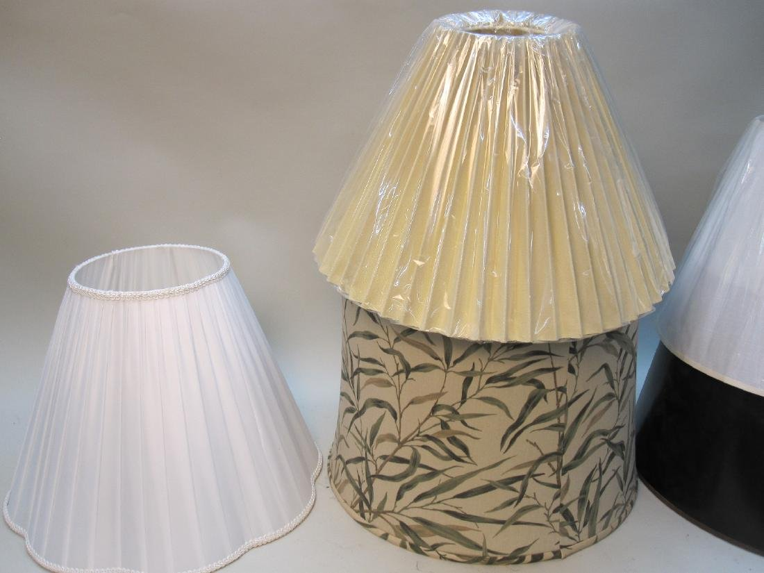GROUP OF 6  ASSORTED LAMP SHADES - 4
