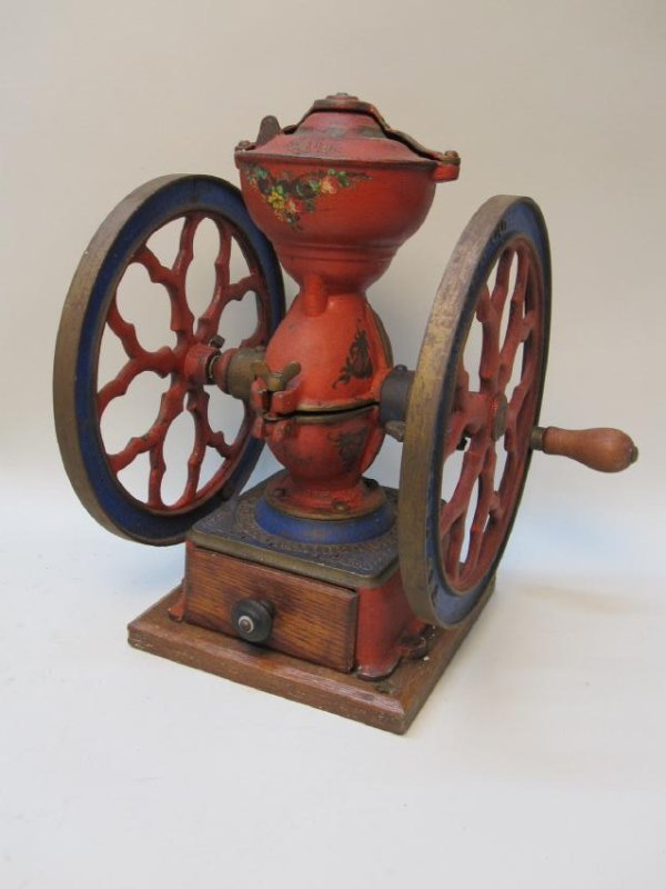 THE CHA'S PARKER CO MERIDEN CONN. COFFEE GRINDER