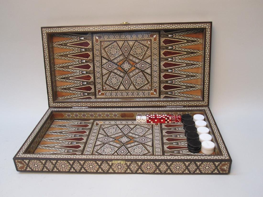 MOROCCAN INLAID GAMES BOX