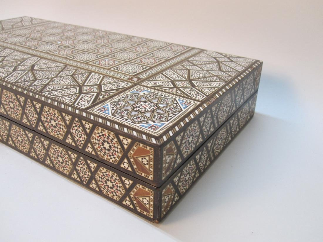 MOROCCAN INLAID GAMES BOX - 4