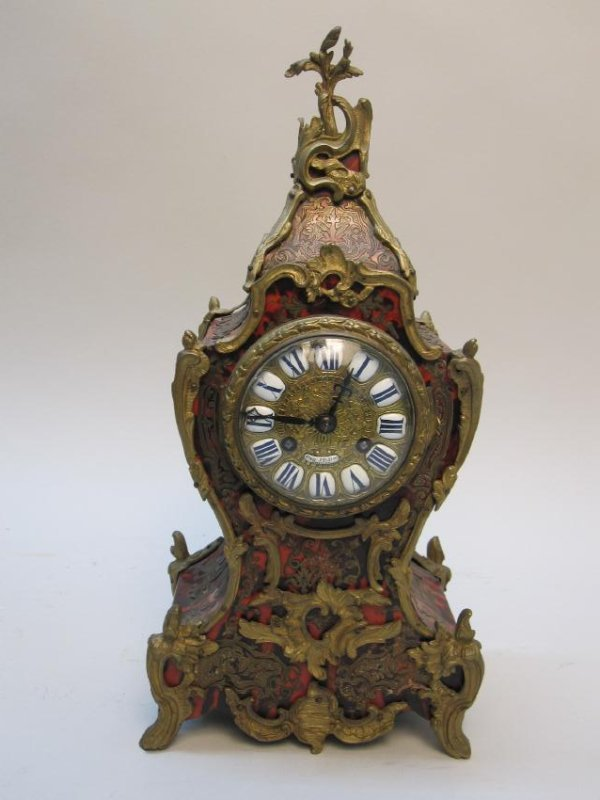 FRENCH ORMOLU MOUNTED BOULLE CLOCK