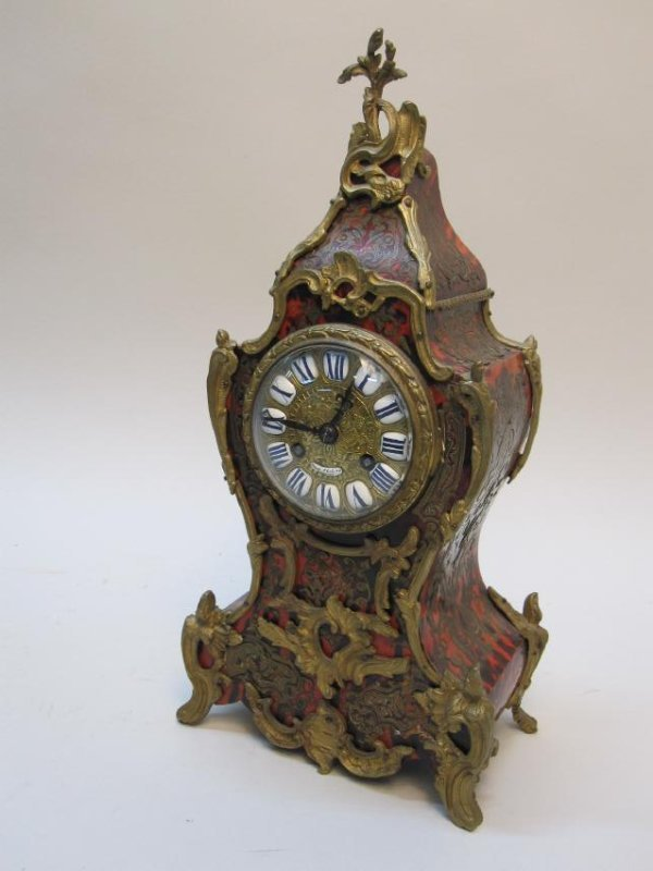 FRENCH ORMOLU MOUNTED BOULLE CLOCK - 2