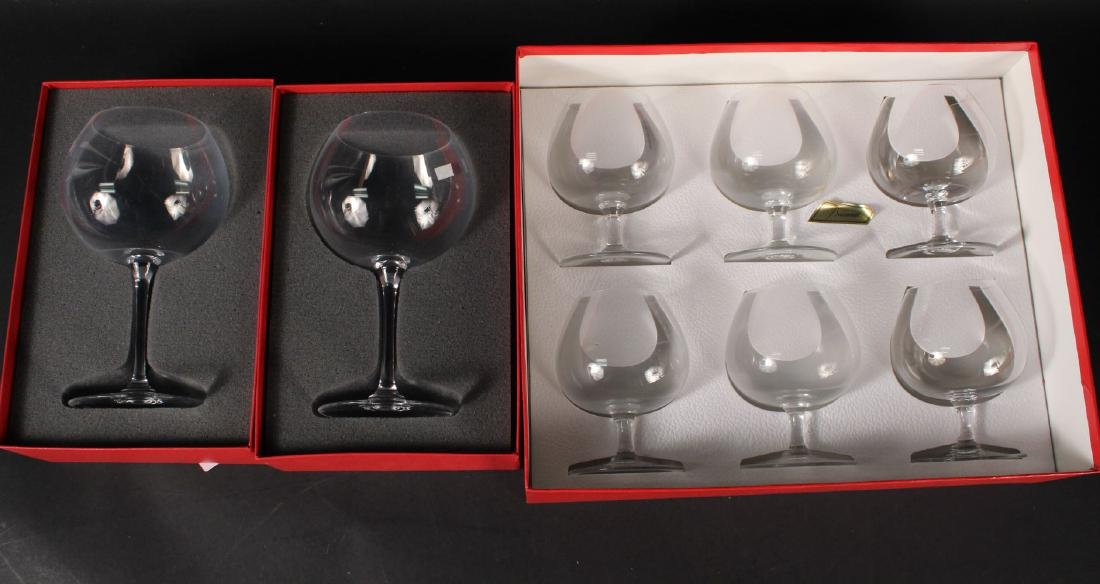 Three Boxed Sets of Baccarat Glasses