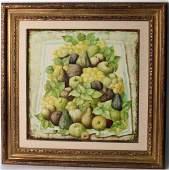 Oil on Canvas, Still Life Fruit, Auge