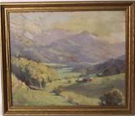 Oil on Canvas Landscape, Colin Campbell Cooper