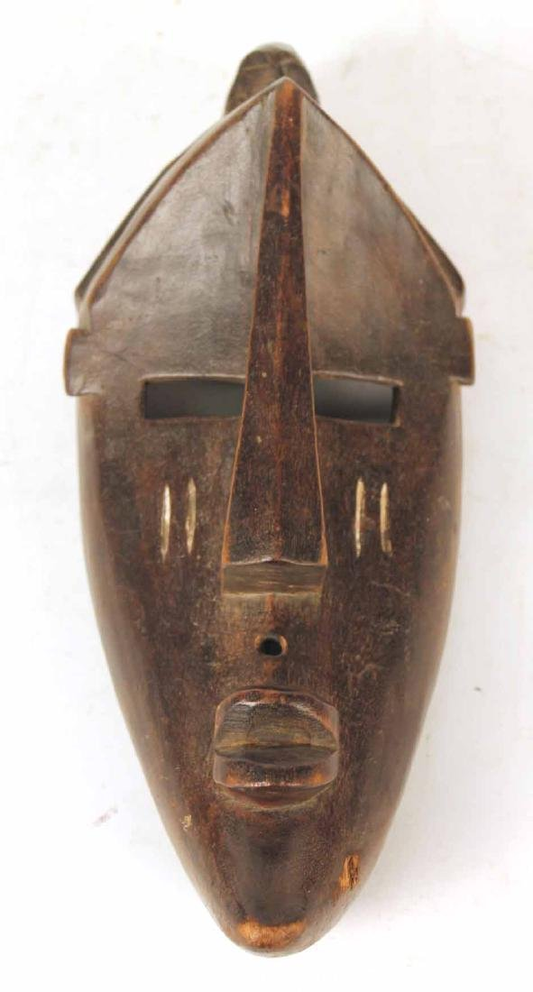Three Carved Wood African Masks - 6
