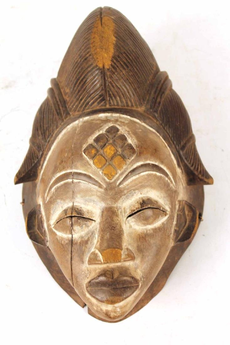 Three Carved Wood African Masks - 8