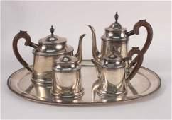 Four Piece Sterling Silver Tea Service